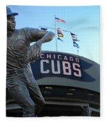 Ron Santo Chicago Cubs Statue Fleece Blanket