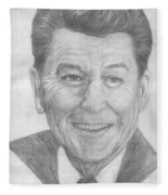 Ronald Reagan Fleece Blanket