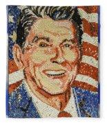 Ronald Wilson Reagan Mosaic Fleece Blanket