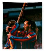 Ronaldinho And Eto'o Fleece Blanket