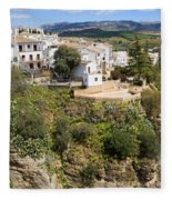 Ronda Houses On A Rock Fleece Blanket