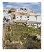 Ronda Old City In Spain Fleece Blanket
