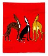Roo Greyhounds Fleece Blanket
