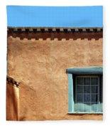 Roof Corner With Ladder And Window Fleece Blanket