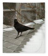 Roof Crow Fleece Blanket
