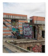 Roof Of The Alte Eisfabrik Ruin In Berlin Fleece Blanket