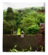 Roof Tops In Countryside Scenery With Trees - Peak District - England Fleece Blanket
