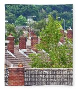 Rooftop Communication Fleece Blanket