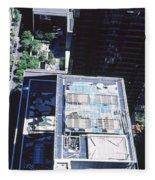 Rooftop Of Museum Of Modern Art Fleece Blanket