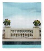 Rooftop Pool Fleece Blanket