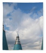 Rooftop Towers At Museum Of Technology Fleece Blanket