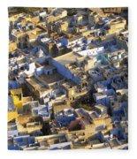 Rooftops In India Fleece Blanket