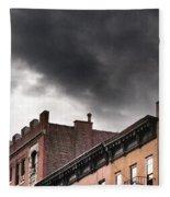 Rooftops Of New York Fleece Blanket