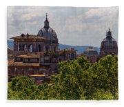 Rooftops Of Rome Fleece Blanket