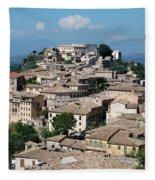 Rooftops Of The Italian City Fleece Blanket