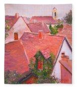Rooftops Trogir Croatia Fleece Blanket