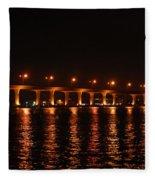 Roosevelt Bridge Panorama Fleece Blanket