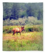 Roosevelt Bull Elk Fleece Blanket