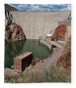 Roosevelt Dam Fleece Blanket