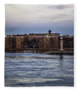Roosevelt Island View - Nyc Fleece Blanket