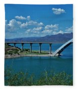 Roosevelt Lake 3 - Arizona Fleece Blanket