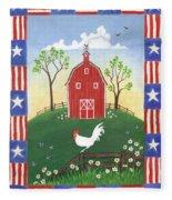 Rooster Americana Fleece Blanket