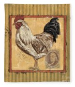 Rooster And Stripes Fleece Blanket