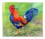 Rooster  Fleece Blanket