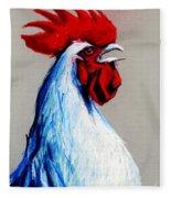 Rooster Head Fleece Blanket