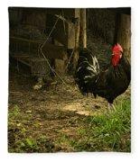 Rooster In The Hen House Fleece Blanket