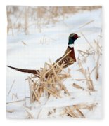 Rooster Pheasant Fleece Blanket