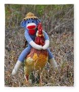 Rooster Rider Fleece Blanket