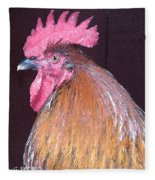 Rooster Watercolor Fleece Blanket