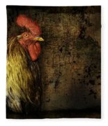 Rooster With Brush Calligraphy Loyalty Fleece Blanket