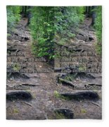 Roots - Cross Your Eyes And Focus On The Middle Image That Appears Fleece Blanket