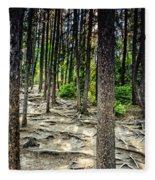 Roots Of Trees Fleece Blanket