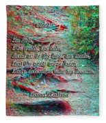 Roots - Use Red/cyan Filtered 3d Glasses Fleece Blanket