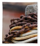 Rope And Chain Fleece Blanket