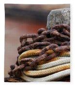 Rope And Chain Fleece Blanket
