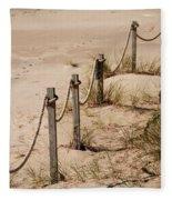 Rope And Wooden Fence Fleece Blanket