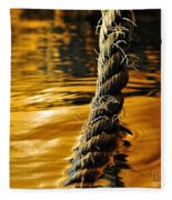 Rope On Liquid Gold Fleece Blanket