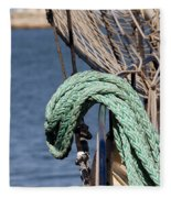 Ropes And Rigging Fleece Blanket