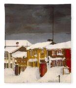 Roros In Winter - Norway Fleece Blanket