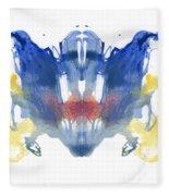 Rorschach Type Inkblot Fleece Blanket