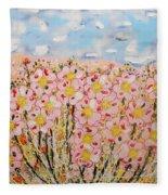 Rosa Ruby Flower Garden Fleece Blanket