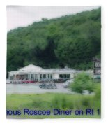 Roscoe Ny Diner Fleece Blanket