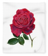 Rose 1 Fleece Blanket