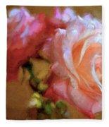 Rose 166 Fleece Blanket