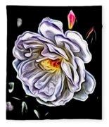 Rose An Petals  Fleece Blanket