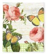 Rose Blush-a Fleece Blanket